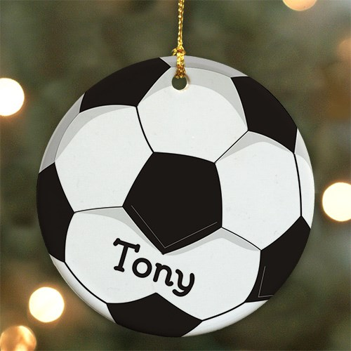Soccer Ball Personalized Ceramic Ornament U372810