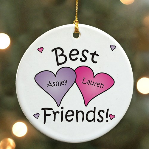 Best Friends Personalized Ceramic Ornament U374710