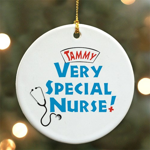 Very Special Nurse Personalized Ceramic Ornament U375210