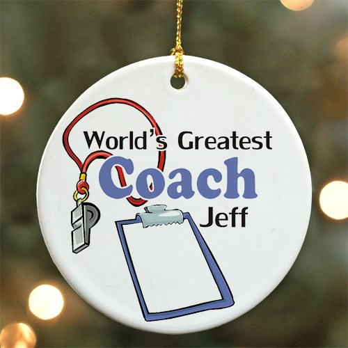 World's Greatest Coach Personalized Ceramic Ornament U375710