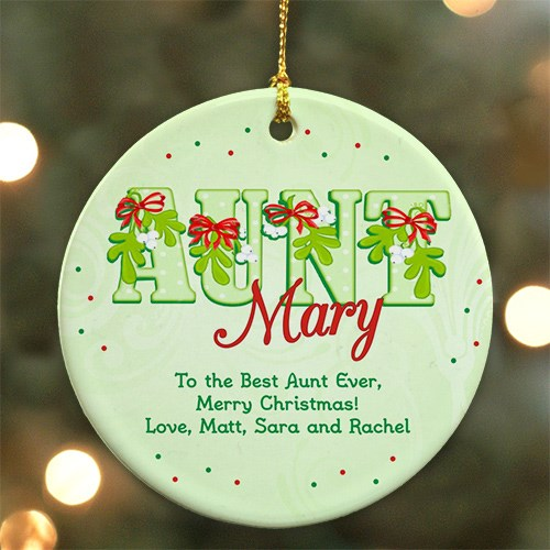 Personalized Ceramic Aunt Ornament U440910