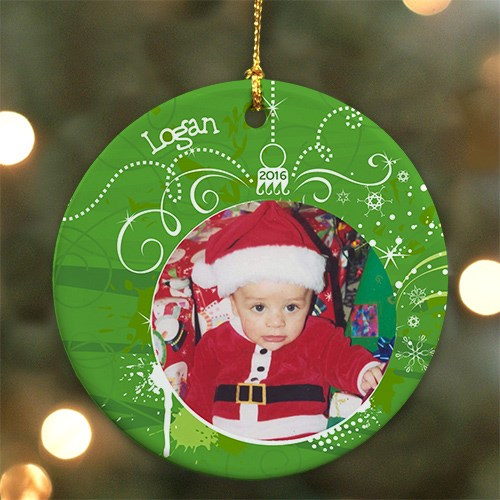 Personalized Ceramic Photo Ornament U448310