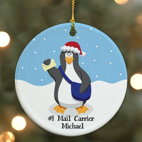 Personalized Ceramic Mail Carrier Ornament U488510