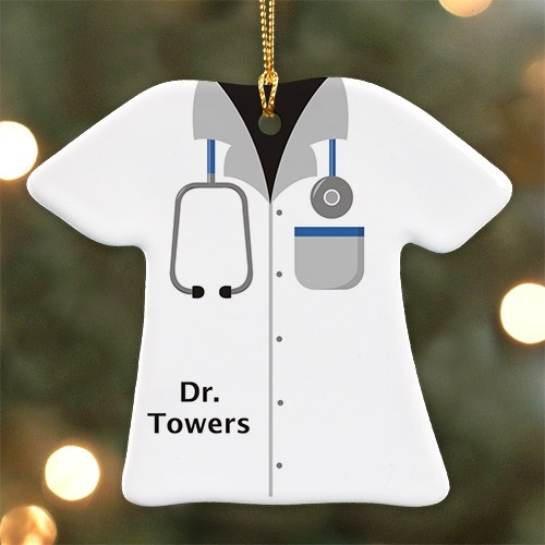 Personalized Ceramic Doctor T-Shirt Ornament U684563