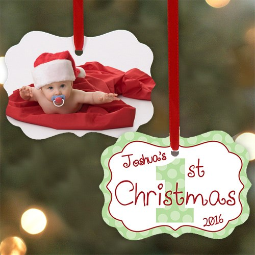Personalized 1st Christmas Photo Ornament | Christmas Ornaments Personalized