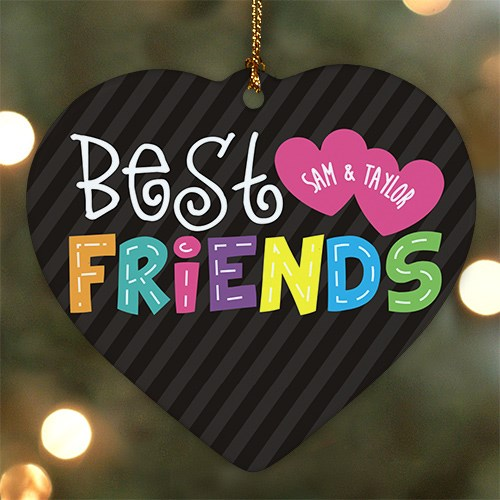 Personalized Ceramic Best Friends Heart Ornament U782325