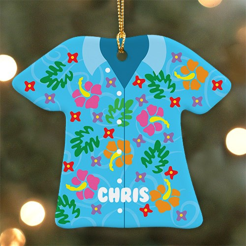 Tropical Shirt Personalized Ornament U796663