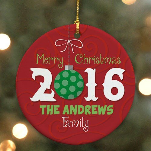 Personalized Merry Christmas Ornament U694510