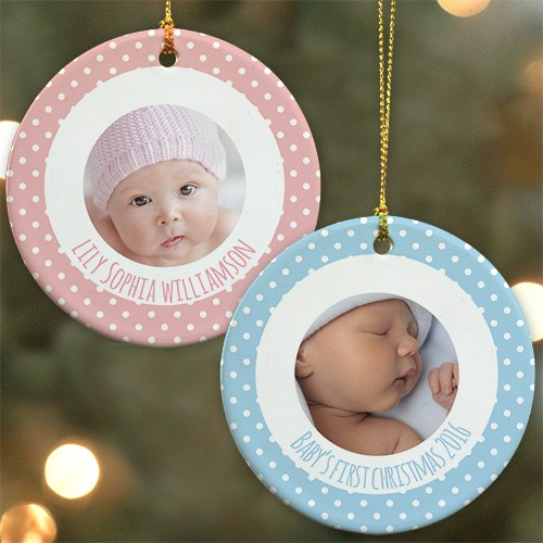 Personalized Baby's First Christmas Photo Ornament U983110