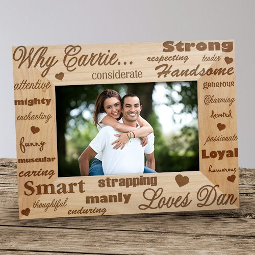 Why I Love You Wood Picture Frame