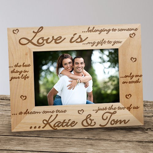 Love is... Wood Picture Frame
