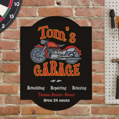 Personalized Mechanic Garage Wall Sign