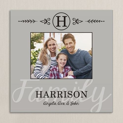 Family Photo Personalized Wall Canvas 9196694X