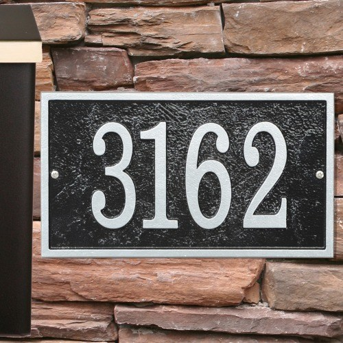 Rectangle House Numbers Plaque FER1X