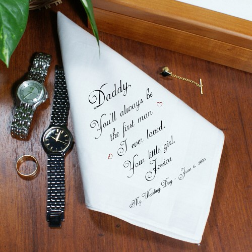 First Man I Loved Personalized Wedding Men's Handkerchief