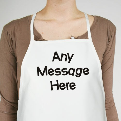 Personalized Message Apron