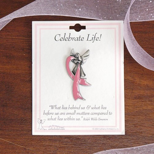 Breast Cancer Awareness Lapel Pin - Celebrate Life