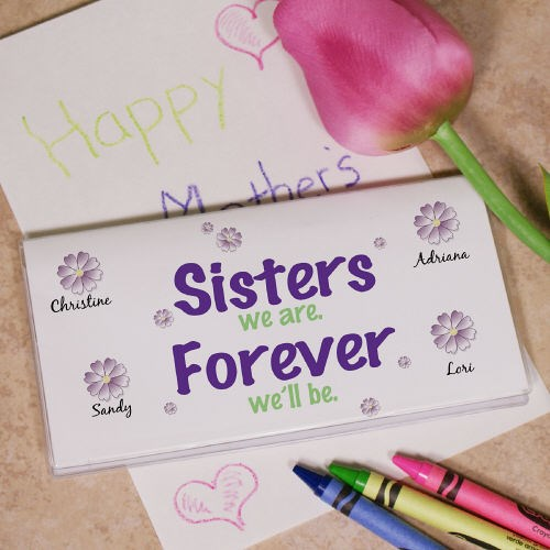 Sisters Forever Checkbook Cover