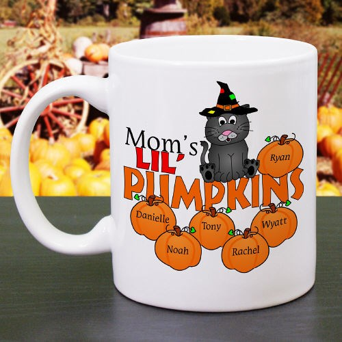 Personalized Halloween Pumpkins Coffee Mugs