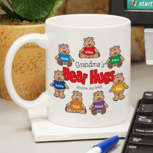 Personalized Bear Hug Coffee Mugs