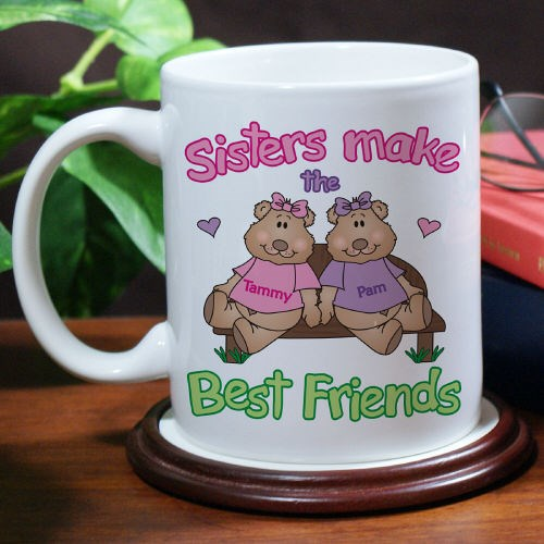 Sisters, best friends mug