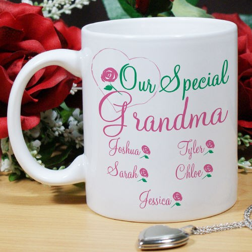 Personalized Mothers Day Coffee Mug for Mom, Grandma, Aunt or Sister