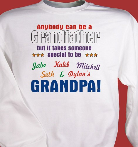 Personalized Grandpa Shirt for Fathers Day