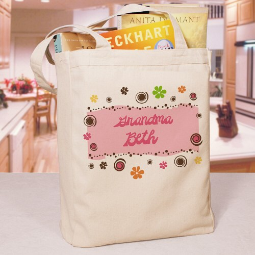 Personalized Floral Retro Custom Tote Bag 828682
