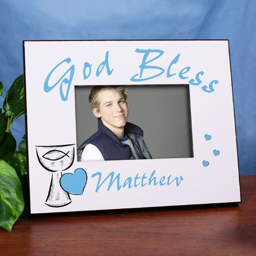Personalized First Communion Boy Picture Frame
