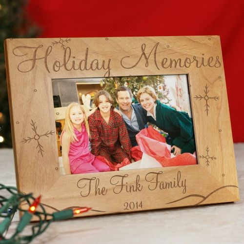 Holiday Memories Personalized Wood Picture Frame