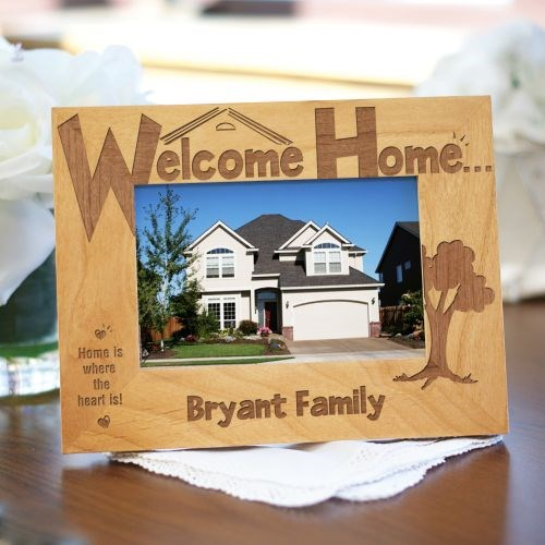 Welcome Home Personalized Wood Picture Frame
