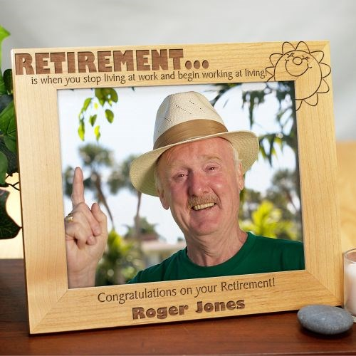 Retirement Wood Picture Frame