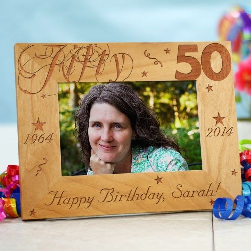 Personalized 50th Birthday Picture Frame
