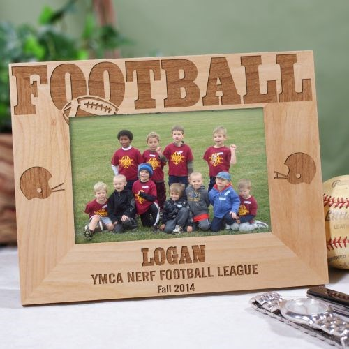 personalized football team picture frame