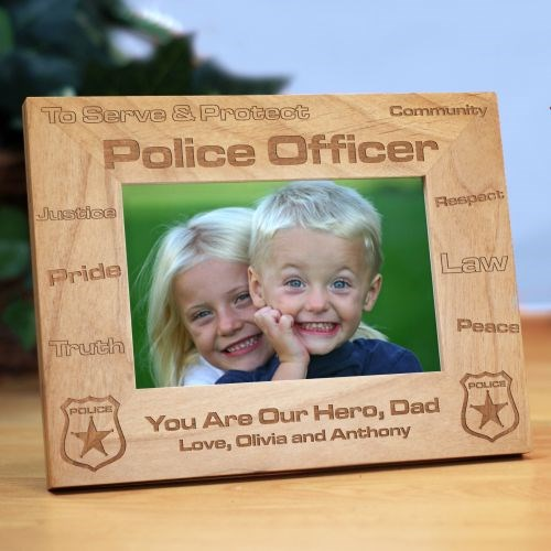 Police Office Wood Picture Frame