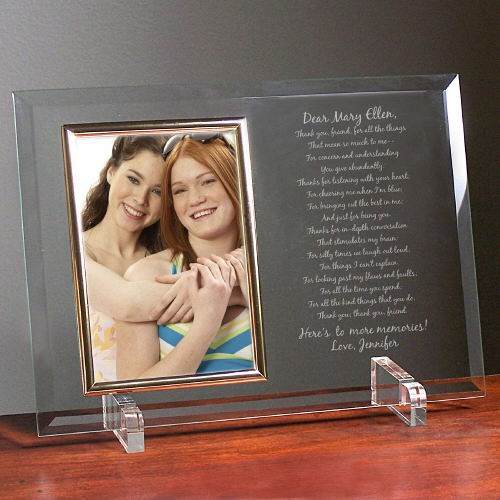 To My Friend... Beveled Glass Picture Frame