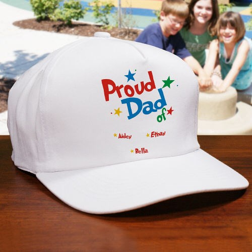 Personalized Proud Dad Hat for Father's Day