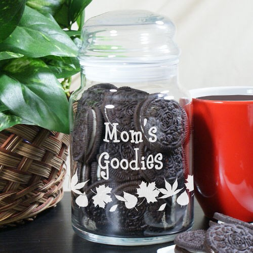 Engraved Mom's Goodies Cookie Jar