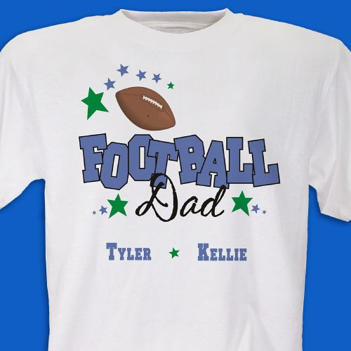 Personalized football t shirt personalized dad shirts for Personalized football t shirts