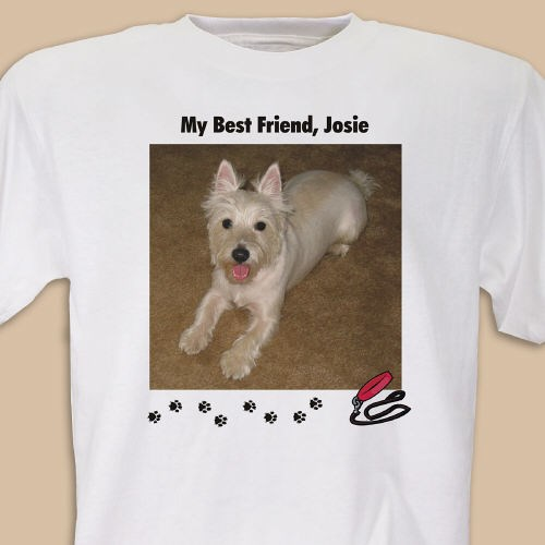 Personalized Dog Lover Photo T-shirt