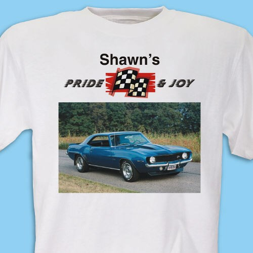 Personalized Pride and Joy Car Photo Tee Shirt