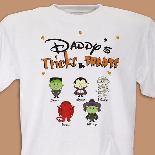 Personalized Trick or Treat T-shirt