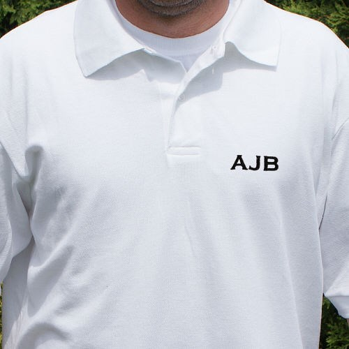 Embroidered Initials Polo Shirt