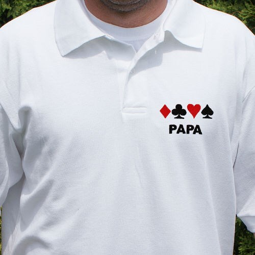 Gambling Embroidered Polo Shirt