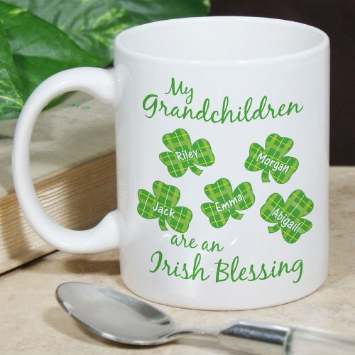 Personalized Irish Blessings Coffee Mug