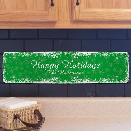 Personalized Holiday Metal Wall Sign