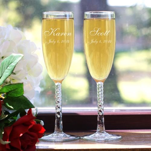 Personalized Wedding Toast Champagne Flutes