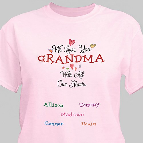 Personalized With All Our Heart T-shirt 310152X